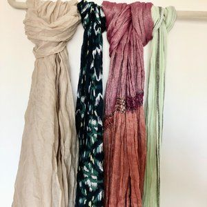 Light Weight Various Scarves 4 ct. Bundle